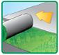 derouler les lés de gazon synthétique